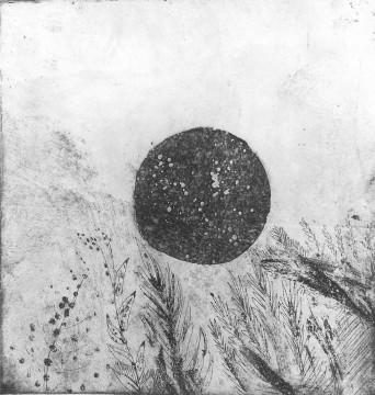 'Starry globe' Aquatint Etch - 18.5 x 20 cm
