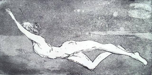 'A boy ' Aquatint Etch - 19.5 x 9.5 cm