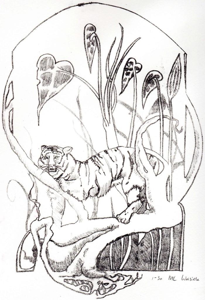 'Jungle view' Litho - 19 x 27 cm- 2014