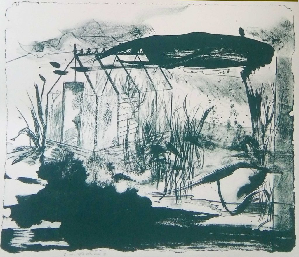 'Dark Days' , lithograph , 49 x 60 cm (edition of 5 )