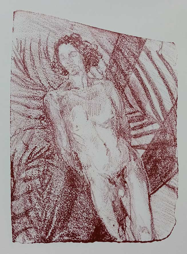 'Male Nude' , lithograph , 21 x 15 cm (edition of 5 )