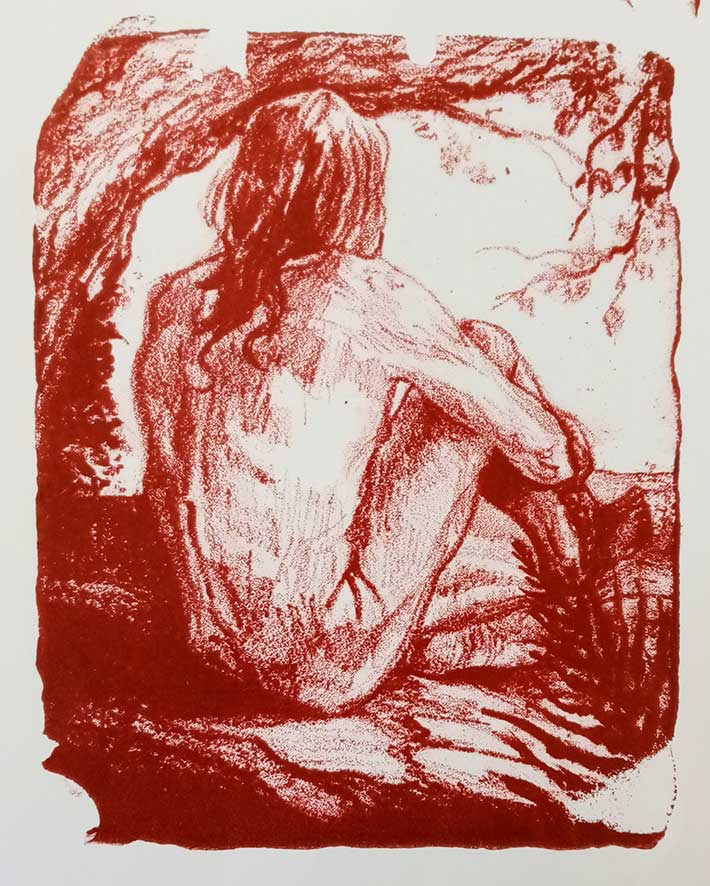 'Nature Nude' , lithograph , 16,5 x 22 cm (edition of ? )