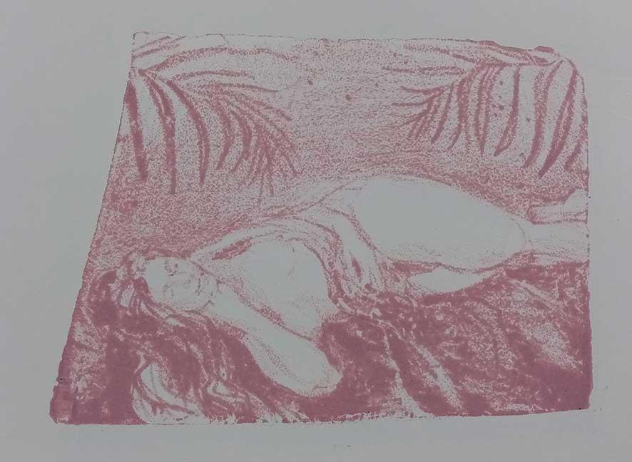 'Model Bolt' , lithograph , 21 x 15 cm (edition of 4 )
