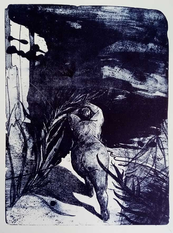 'Surrender' , lithograph , 32,5 x 44 cm (edition of 5 )